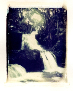 Polaroid transfer- Waterfall Hawaii 2007