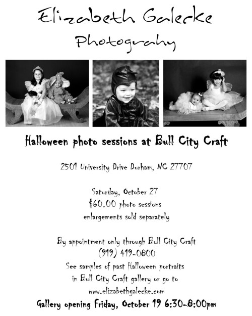 Halloween Portrait sessions at Bull City Craft and Gallery opening